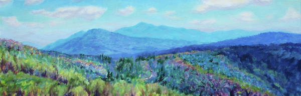 Wall Art - Painting - Appalachian Spring - Early Spring In The Mountains Of Virginia by Bonnie Mason