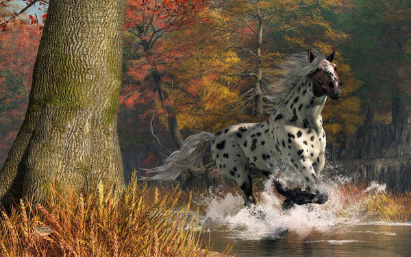 Digital Art - Appaloosa River by Daniel Eskridge