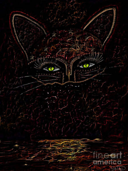 Digital Art - Appearance Of The Mystic Cat by Swedish Attitude Design