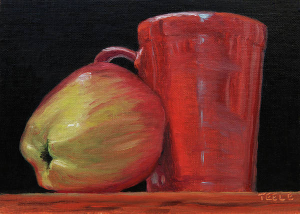 Painting - Apple And Cca Mug by Trina Teele
