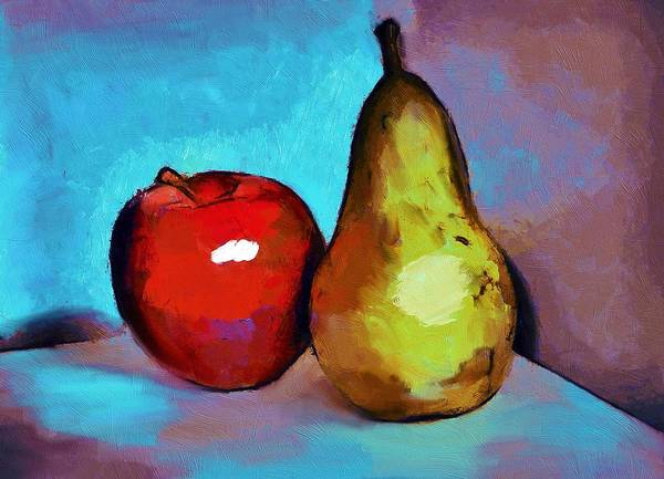 Wall Art - Painting - Apple And Pear by ArtMarketJapan