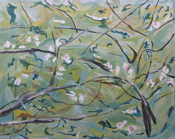 Wall Art - Painting - Apple Blossom 2 by Francois Fournier