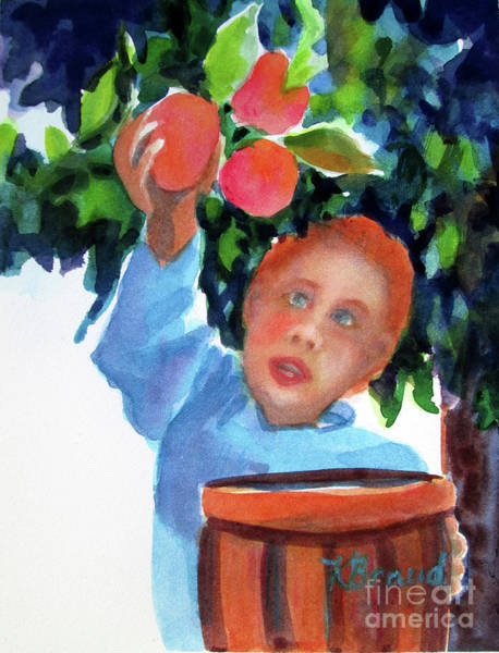 Wall Art - Painting - Apple Picker by Kathy Braud