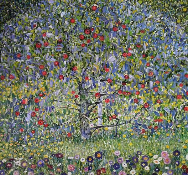 Wall Art - Painting - Apple Tree I Gustav Klimt by Celestial Images