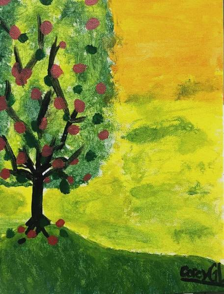 Wall Art - Painting - Apple Tree by Richard Gagne