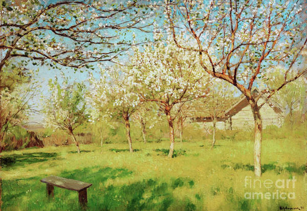 Tretyakov Gallery Painting - Apple Trees In Blossom by Isaak Levitan