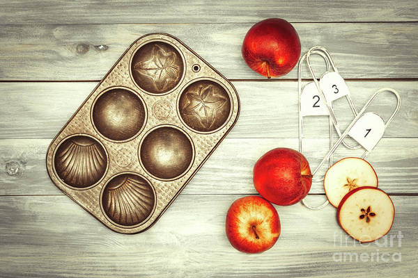 Wall Art - Photograph - Apples And Baking Tin by Amanda Elwell