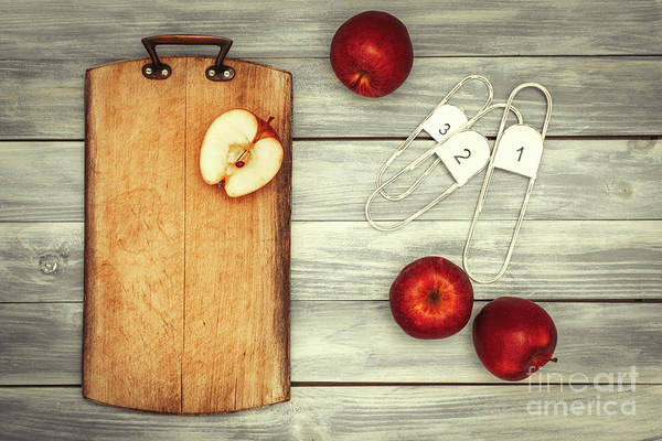 Wall Art - Photograph - Apples And Chopping Board by Amanda Elwell