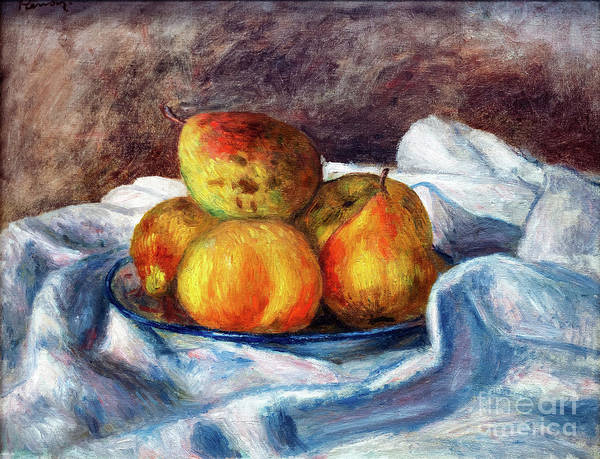 Painting - Apples And Pears by Auguste Renoir