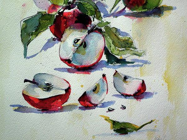 Wall Art - Painting - Apples On Table II Cd by Kovacs Anna Brigitta