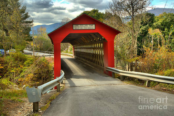 Photograph - Approaching The Chiselville Covered Bridge by Adam Jewell