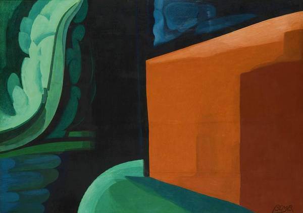 Cube House Wall Art - Painting - Approaching Black - Digital Remastered Edition by Oscar Bluemner