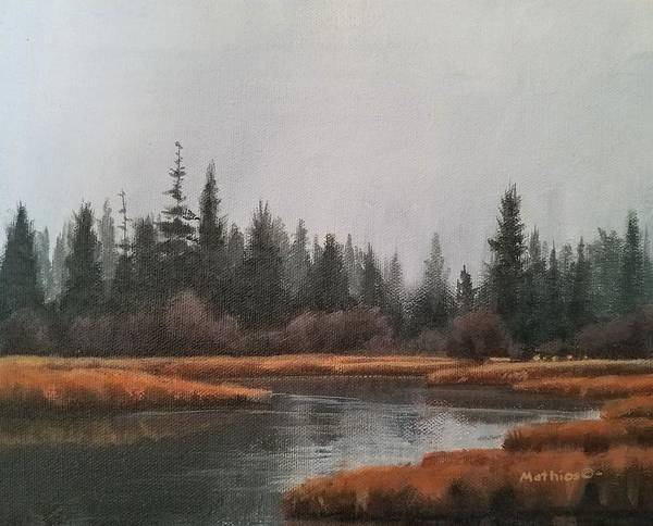 Painting - Approaching Flurries by Peter Mathios