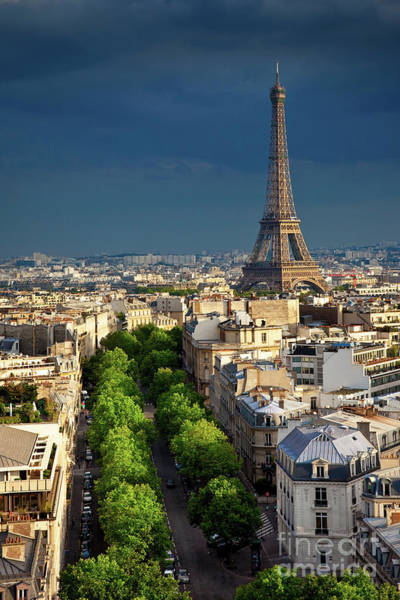 Photograph - Approaching Storm Over Eiffel by Brian Jannsen