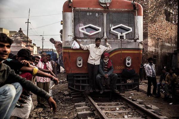 Wall Art - Photograph - Approaching Train At Mathura by Ruben Vicente