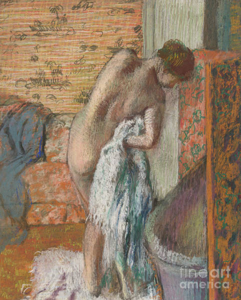 Wall Art - Pastel - Apres Le Bain, 1886 by Edgar Degas