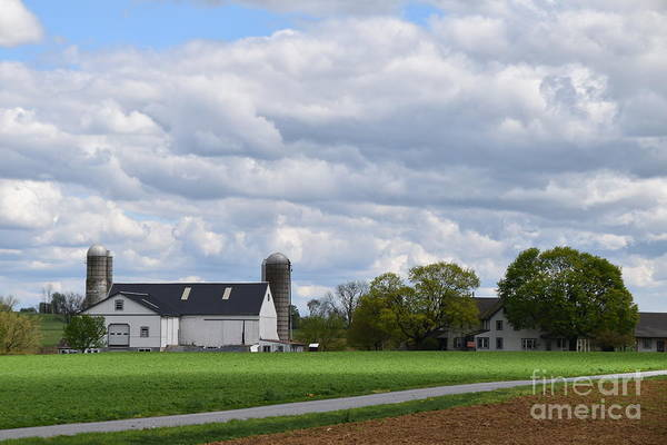 Photograph - April Clouds On An Amish Farm by Christine Clark