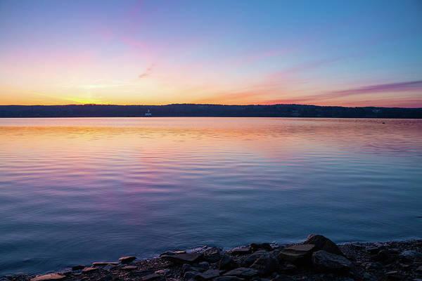 Photograph - April Dawn On The Hudson River I by Jeff Severson