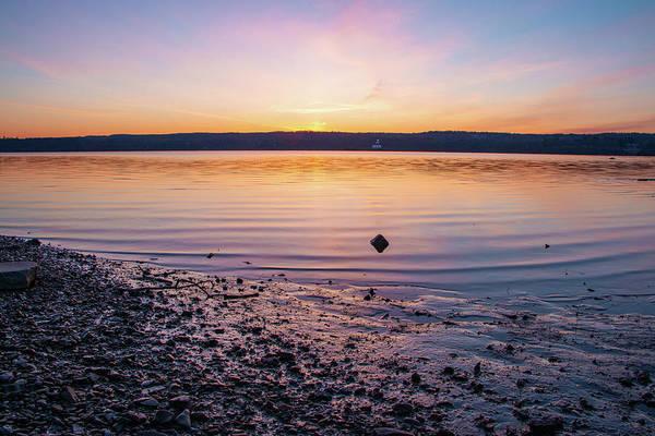 Photograph - April Dawn On The Hudson River II by Jeff Severson