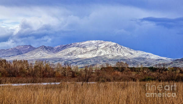Wall Art - Photograph - April Snow On Squaw Butte by Robert Bales
