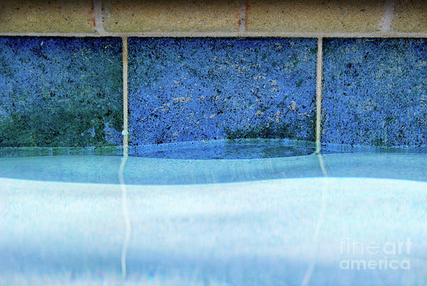 Photograph - Aqua Agua Abstract Four by Karen Adams