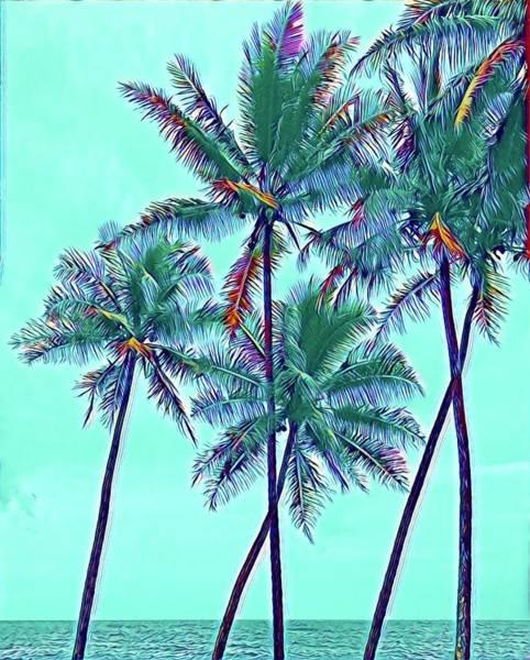 Photograph - Aqua Blue Anue Aloha by Joalene Young