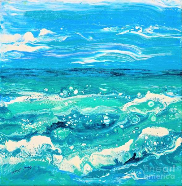 Painting - Aqua Seafoam by Marilyn Young