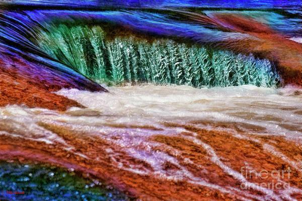 Photograph - Aqua Water Pedernales Falls by Blake Richards