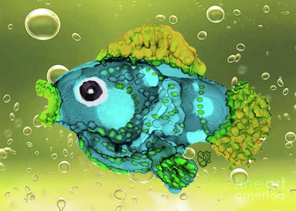 Painting - Aquaallie, Funky Fish by Christine Dekkers