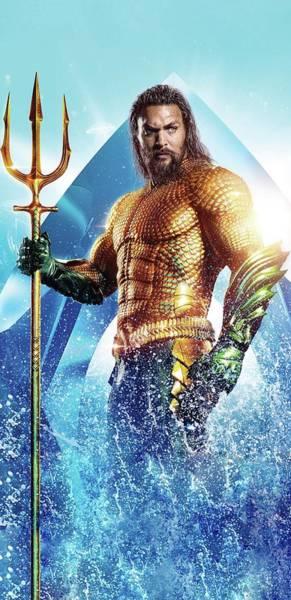 Aquaman Digital Art - Aquaman - 2019 by Geek N Rock
