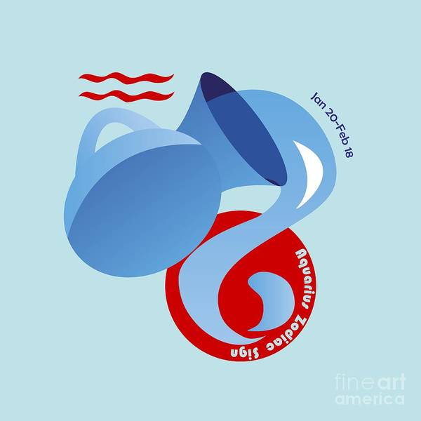Digital Art - Aquarius - Water Bearer by Ariadna De Raadt