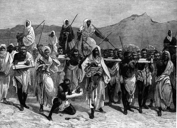 Printmaking Photograph - Arab Slave Traders by Welgos