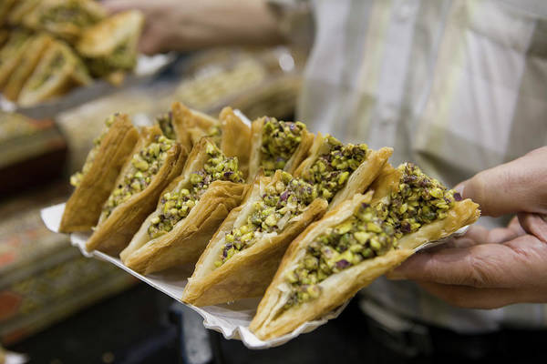 Damascus Photograph - Arabian Baked Sweets, Aboharb Pastry by Holger Leue