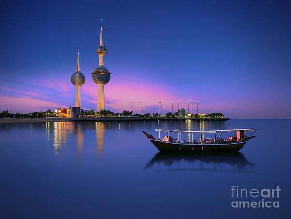 Wall Art - Photograph - Arabian Passenger Boat During Blue Hour by Arlo Magicman