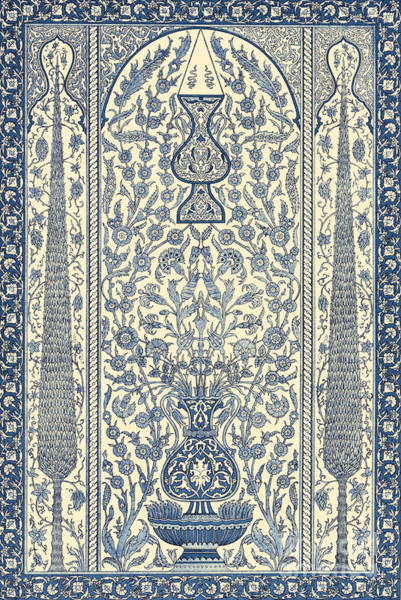 Wall Art - Tapestry - Textile - Arabian Wainscot Vintage Textile Pattern by Arabian School