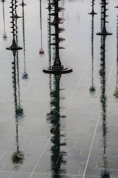 Photograph - Arbres Lumineux In The Rain Paris II by Helen Northcott