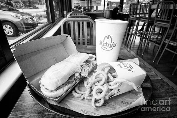 Wall Art - Photograph - Arbys Sandwich Meal In A Restaurant In Jacksonville Florida Usa by Joe Fox