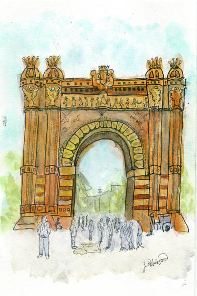 Painting - Arc De Triompf, Barcelona by Judy Robinson