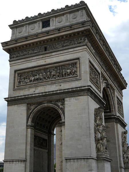 Photograph - Arc De Triomphe And Eiffel Tower by Andrew Fare