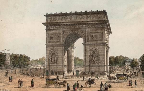 Famous Places Digital Art - Arc De Triomphe by Hulton Archive