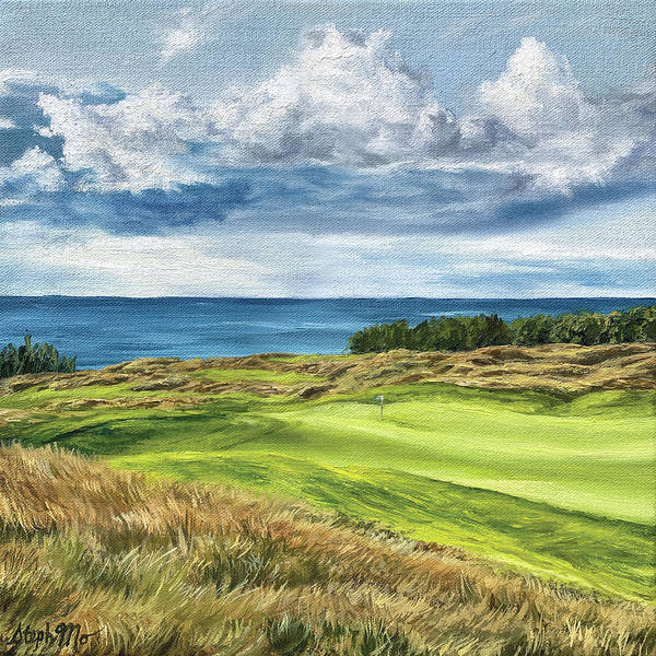 Painting - Arcadia Bluffs by Steph Moraca