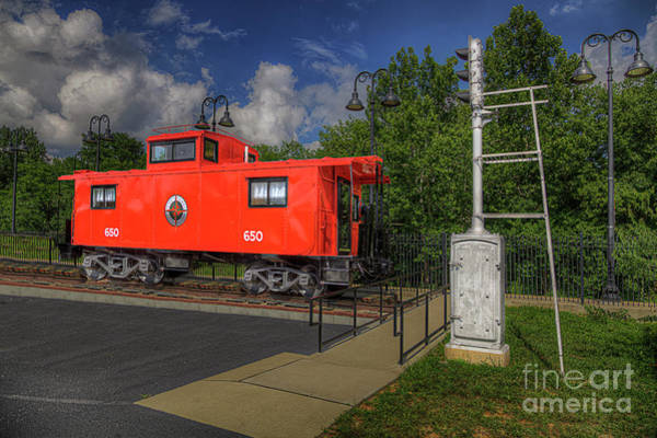 Wall Art - Photograph - Arcadia Caboose  by Larry Braun