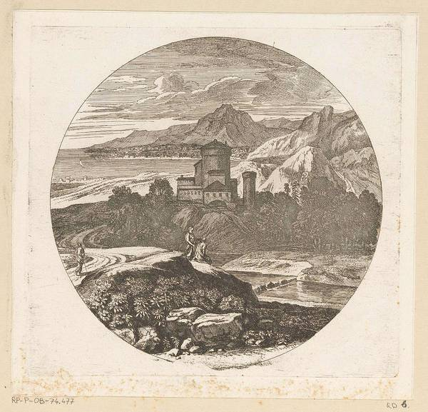 Wall Art - Painting - Arcadian Landscape With Figures On A Hill And A Bay In The Background, Theodore, 1690 - 1730 by Theodore