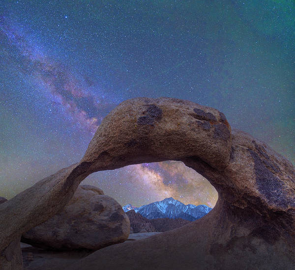 Photograph - Arch And Milky Way, Alabama Hills by