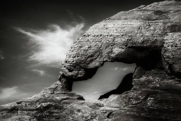 Photograph - Arch Formation In Black And White by Rikk Flohr