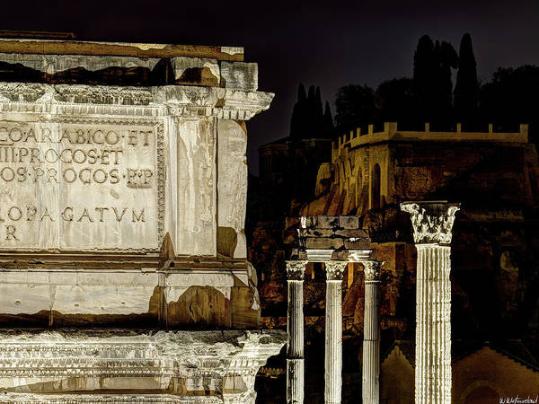 Photograph - Arch Of Septimius Severus At Night by Weston Westmoreland