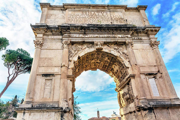 Wall Art - Photograph - Arch Of Titus, Roman Forum, Rome, Italy by William Perry