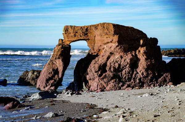 Photograph - Arched Rock On Little Black Sands Beach - Shelter Cove by Bill Cannon