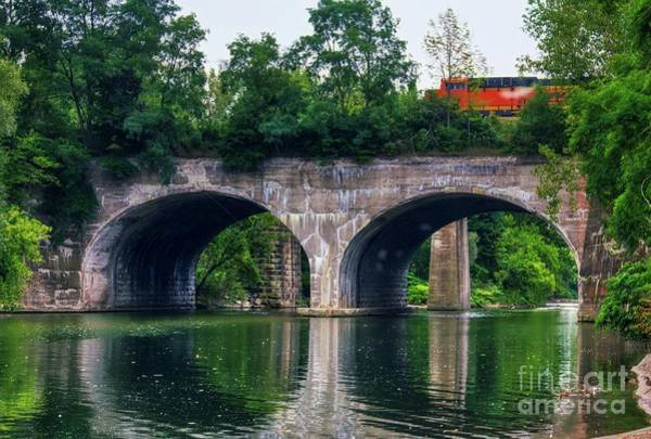 Photograph - Arched Train Bridge   by Jim Lepard