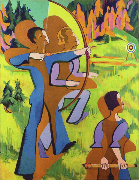 Wall Art - Painting - Archers - Digital Remastered Edition by Ernst Ludwig Kirchner